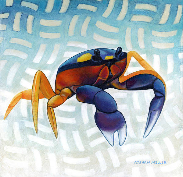 Crab Painting - Mouthless Crab by Nathan Miller