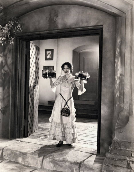 Photograph - Movie Star Norma Shearer by Underwood Archives