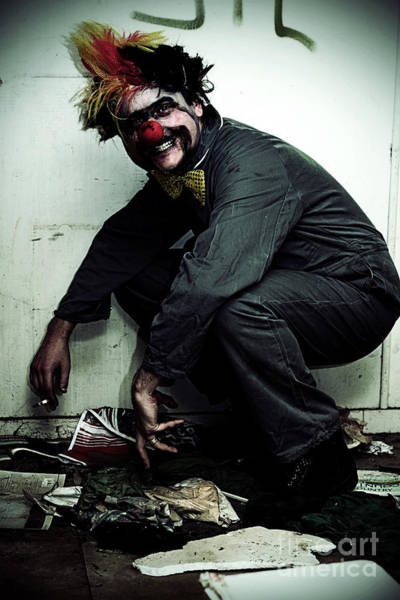 Homeless Photograph - Mr Squatter The Unemployed Clown by Jorgo Photography - Wall Art Gallery