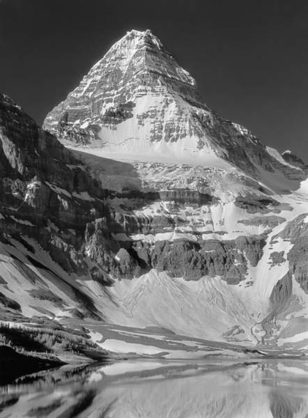 Photograph - 103424-bw-mt. Assiniboine by Ed  Cooper Photography
