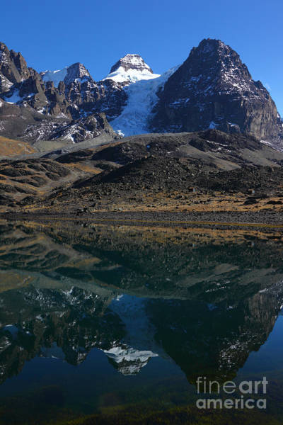 Photograph - Mt Condoriri And Lake Chiar Kota by James Brunker