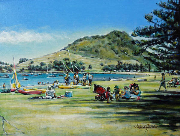 Painting - Mt Maunganui Pilot Bay 201210 by Selena Boron