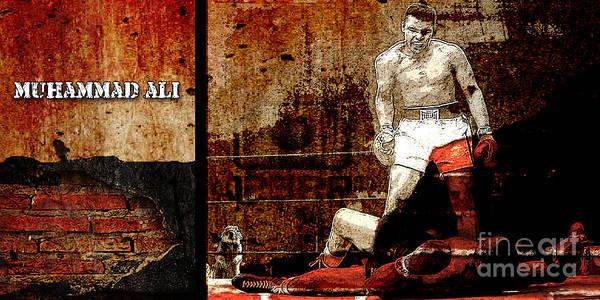 Boxing Mixed Media - Muhammad Ali by Marvin Blaine
