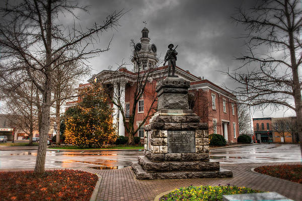 Town Square Photograph - Murfreesboro Town Hall by Brett Engle