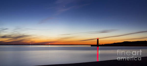 Inner Photograph - Muskegon Lighthouse In Evening by Twenty Two North Photography