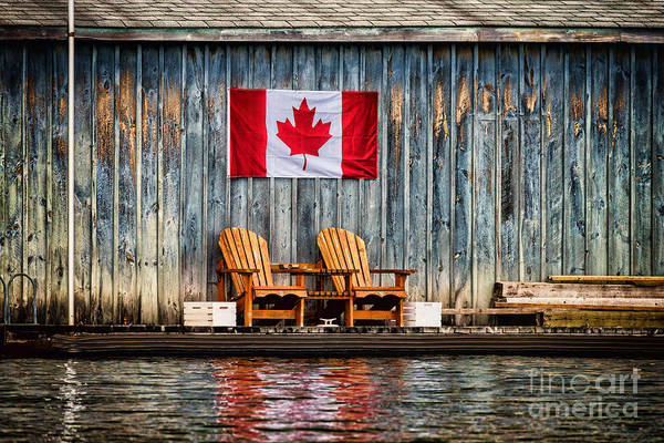 Photograph - Muskoka Chairs by Les Palenik