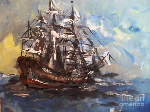 Painting - My Ship by Laurie Lundquist