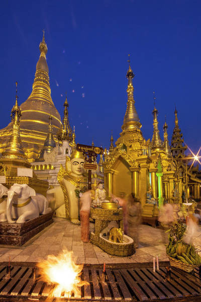 Jim Temple Photograph - Myanmar, Yangon Shwedagon Temple by Jaynes Gallery