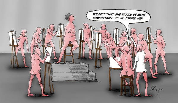 Naked Artists Art Print