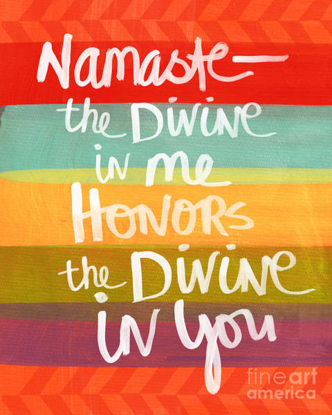 Signs Painting - Namaste  by Linda Woods