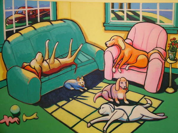 Wall Art - Painting - Nap Time by Robert Tarr