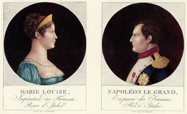 Wall Art - Drawing - Napoleon I  Oval Portrait Of Napoleon by Mary Evans Picture Library