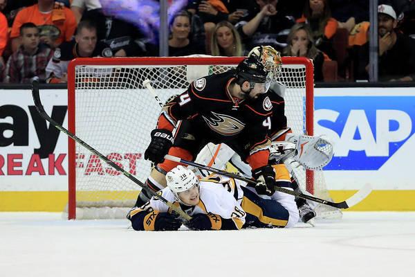Stanley Cup Playoffs Photograph - Nashville Predators V Anaheim Ducks - by Sean M. Haffey