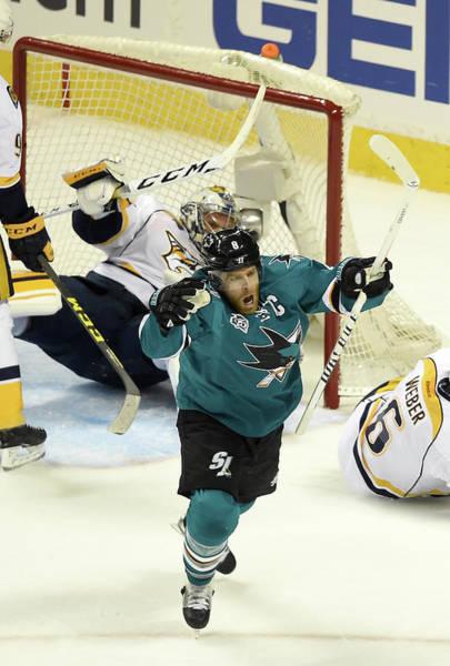 Stanley Cup Playoffs Photograph - Nashville Predators V San Jose Sharks - by Thearon W. Henderson