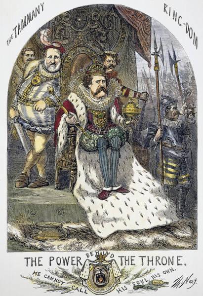 Political Cartoon Painting - Nast Tweed Cartoon, 1870 by Granger