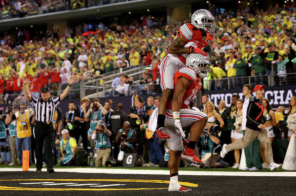Scoring Photograph - National Championship - Oregon V Ohio by Ronald Martinez