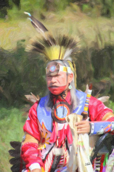 Painting - Native American 6485 by Dean Wittle