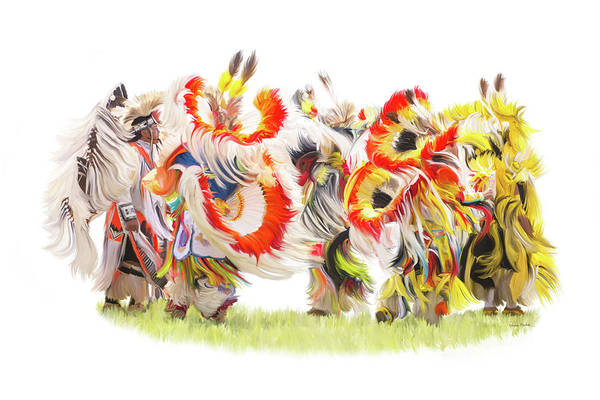 Culture Painting - Native Color In Motion by Ramona Murdock