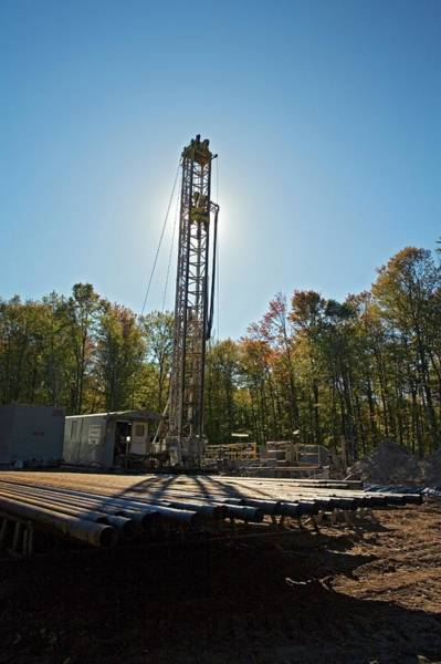 Drilling Photograph - Natural Gas Drilling Rig by Jim West