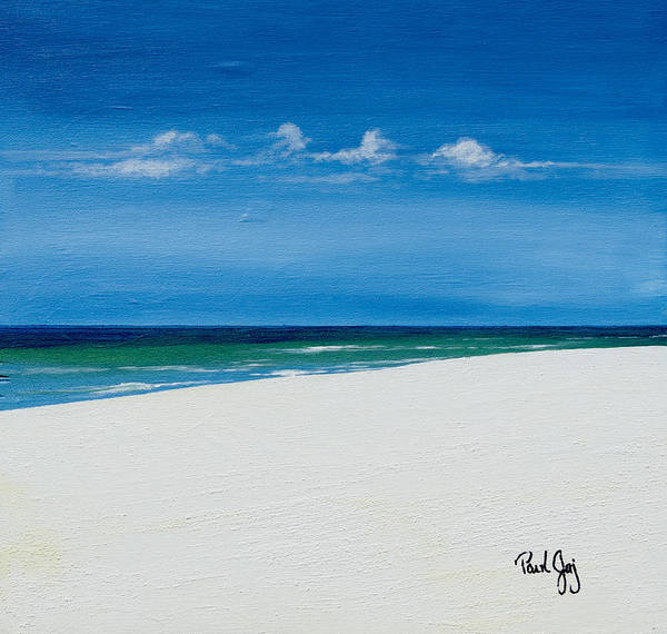 Painting - Navarre Beach by Paul Gaj