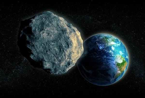 Near Earth Object Photograph - Near-earth Asteroid by Andrzej Wojcicki/science Photo Library