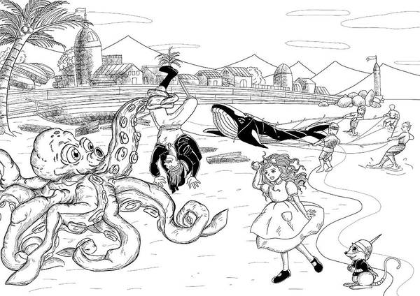 Drawing - Nellie The Octopus by Reynold Jay