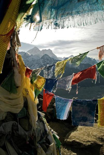 Gokyo Photograph - Nepal, Gokyo Ri Prayer Flags by David Noyes