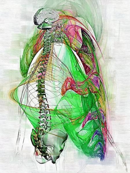 Backache Digital Art - Nervous System by Joseph Ventura