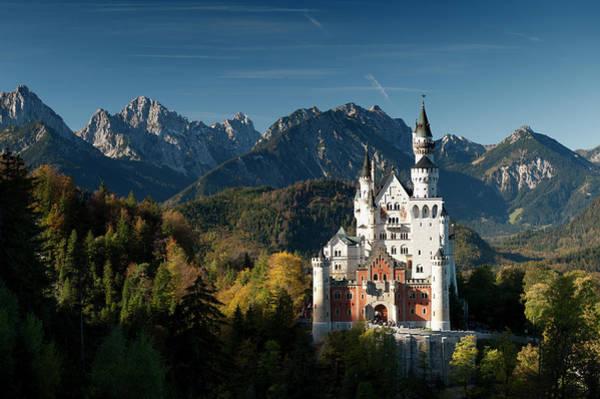 Wall Art - Photograph - Neuschwanstein Castle And German Alps by Richard Nebesky