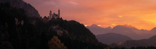 Fortification Photograph - Neuschwanstein Palace Bavaria Germany by Panoramic Images
