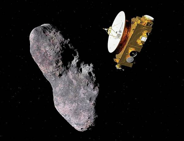 Flyby Photograph - New Horizons Encounters 2014 Mu69 by Walter Myers/science Photo Library
