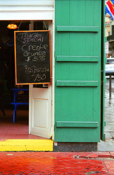 Photograph - New Orleans - Bourbon Street Menu by Frank Romeo