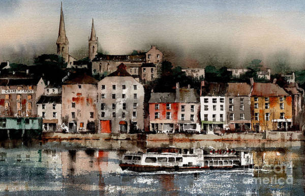 Painting - New Ross Quays   Wexford by Val Byrne
