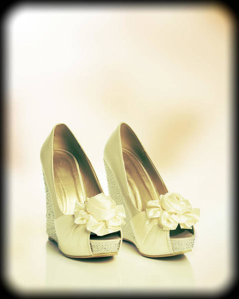 Bridal Photograph - New Wedding Sandals by Amanda Elwell