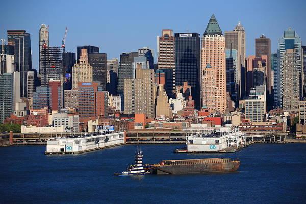 Photograph - New York City Docks On The Hudson by Frank Romeo
