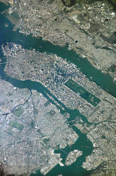Roosevelt Island Wall Art - Photograph - New York City by Nasa