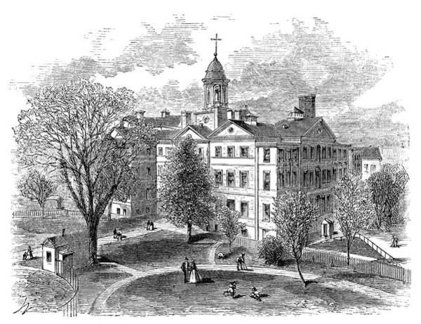 Painting - New York Hospital, 1868 by Granger