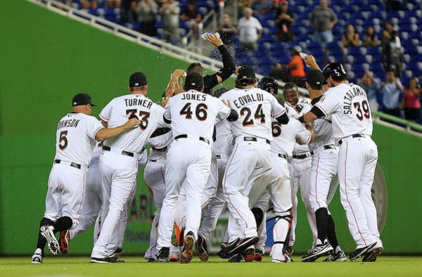 Miami Marlins Photograph - New York Mets V Miami Marlins by Mike Ehrmann