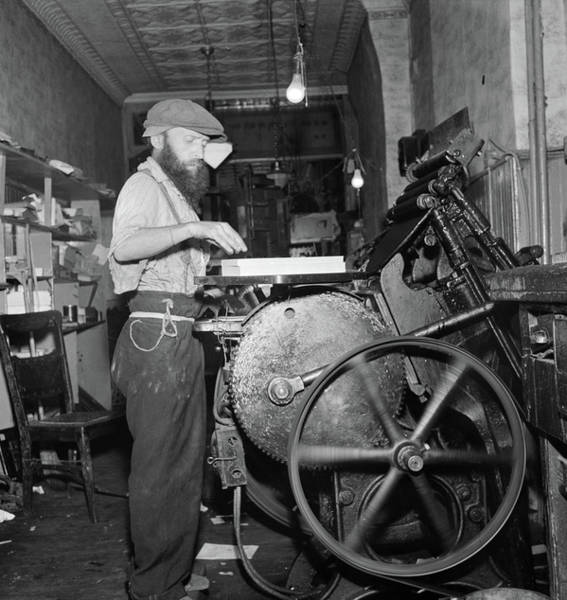 Broome Photograph - New York Printer, 1942 by Granger