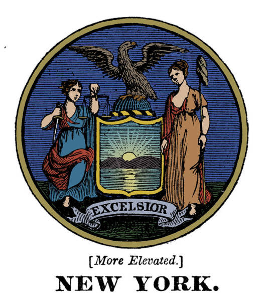 Painting - New York State Seal by Granger