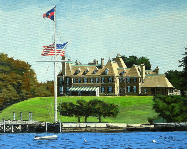 Wall Art - Painting - New York Yacht Club Newport Rhode Island by Christine Hopkins