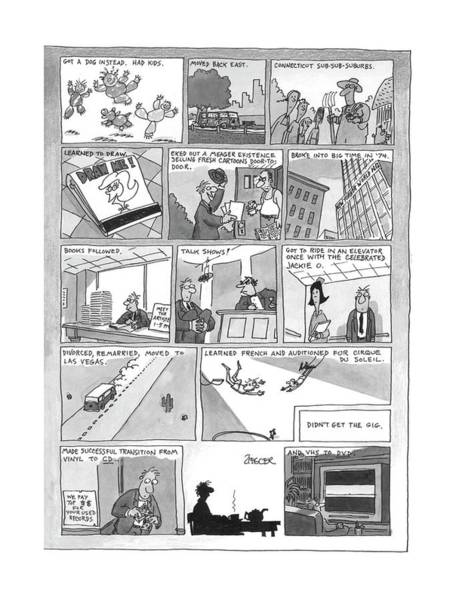Manhattan Drawing - New Yorker December 7th, 1998 by Jack Ziegler