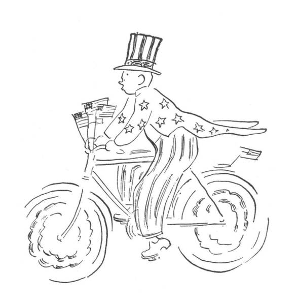 Unity Drawing - New Yorker July 4th, 1942 by Garrett Price