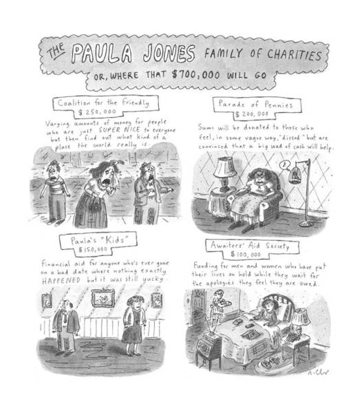 Wall Art - Drawing - New Yorker June 23rd, 1997 by Roz Chast