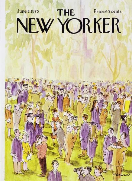 Wall Art - Painting - New Yorker June 2nd 1975 by James Stevenson