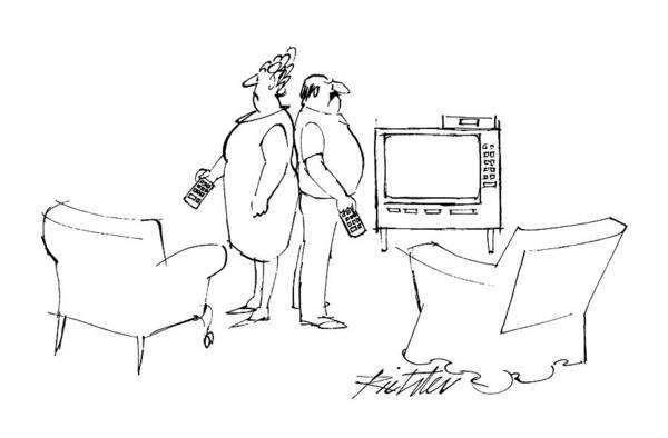 T.v Drawing - New Yorker June 6th, 1988 by Mischa Richter