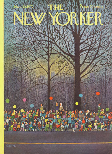 New York City Painting - New Yorker November 25th, 1972 by Charles E Martin