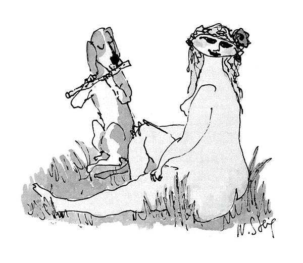 Pair Drawing - New Yorker September 27th, 1999 by William Steig