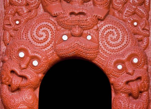 Wood Carving Photograph - New Zealand, Rotorua by Jaynes Gallery