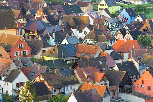 Alsace Wall Art - Photograph - Niedermorschwihr, Alsace, France by Peter Adams